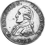 USA Half Dollar 1792 KM# Tn59.1a Washington Pieces G. WASHINGTON. PRESIDENT. I. coin obverse
