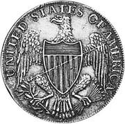 USA Half Dollar 1792 KM# Tn59.1a Washington Pieces UNITED STATES OF AMERICA coin reverse