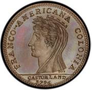 USA Half Dollar 1796 KM# Tn87.1a Castorland FRANCO - AMERICANA COLONIA CASTORLAND coin obverse