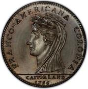 USA Half Dollar 1796 KM# Tn87.1b Castorland FRANCO - AMERICANA COLONIA CASTORLAND coin obverse