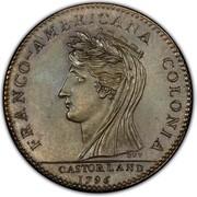 USA Half Dollar 1796 KM# Tn87.2 Castorland FRANCO - AMERICANA COLONIA CASTORLAND coin obverse