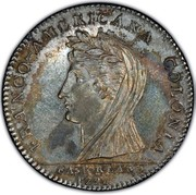 USA Half Dollar 1796 KM# Tn87.3 Castorland FRANCO - AMERICANA COLONIA CASTORLAND coin obverse