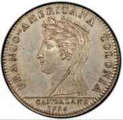 USA Half Dollar 1796 KM# Tn87.4 Castorland FRANCO - AMERICANA COLONIA CASTORLAND coin obverse