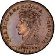 USA Half Dollar 1796 KM# Tn87.5 Castorland FRANCO - AMERICANA COLONIA CASTORLAND coin obverse