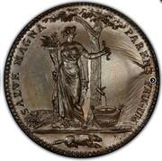 USA Half Dollar 1796 KM# Tn87.1b Castorland SALVE MAGNA PARENS FRUGUM coin reverse