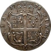 USA Halfpenny 1774 KM# Tn26 Virginia Halfpennies NIA • 1774 • VIRGI coin reverse