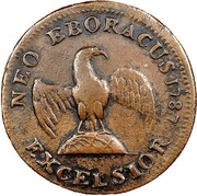 USA Neo Eboracus 1787 KM# 7 Nova Eboracs NEO EBORACUS EXCELSIOR coin reverse