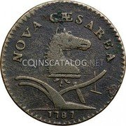 USA New Jersey Copper 1787 KM# 14 New Jersey Coppers NOVA CAESAREA. coin obverse
