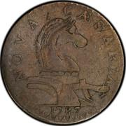 USA Nova Caesarea New Jersey 1787 KM# 13 NOVA CAESAREA coin obverse