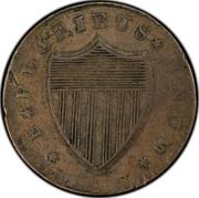USA Nova Caesarea New Jersey 1787 KM# 13 * E * PLURIBUS * UNUM * coin reverse