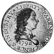 USA One Cent 1792 KM# PnJ1 Issues of 1792 LIBERTY PARENT OF SCIENCE & INDUSTRY coin obverse