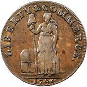 USA One Cent 1795 KM# Tn72.4 Talbot, Allum and Lee Tokens LIBERTY & COMMERCE. coin obverse