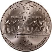 USA One Dollar 2002 Winner Olympics - Salt Lake City 2002 P KM# 336 XIX OLYMPIC WINTER GAMES UNITED STATES OF AMERICA E PLURIBUS UNUM ONE DOLLAR coin reverse