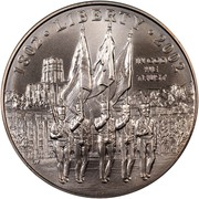 USA One Dollar U. S. Military Academy at West Point - Bicentennial 2002 W KM# 338 1802 • LIBERTY • 2002 IN GOD WE TRUST coin obverse