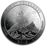 USA Quarter Dollar Hawaii Volcanoes National Park, HI 2012 KM# 539 HAWAI'I VOLCANOES HAWAII 2012 E PLURIBUS UNUM coin reverse
