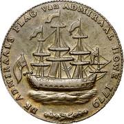 USA Rhode Island Ship Token 1779 KM# Tn28a Rhode Island Ship Tokens DE ADMIRALS FLAG van ADMIRAL HOVE 1779 coin obverse