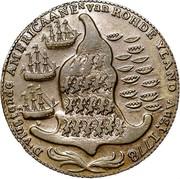 USA Rhode Island Ship Token 1779 KM# Tn28a Rhode Island Ship Tokens D. VLUGTENDE AMERICAANEN van ROHDE YLAND AUG, t 1778 coin reverse