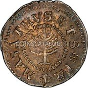 USA Shilling 1652 KM# 17 Pine Tree MASATHVSETS IN coin obverse