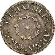 USA Six Pence 1783 KM# Tn46.2 John Chalmers I. CHALMER, ANNAPOLIS. coin obverse