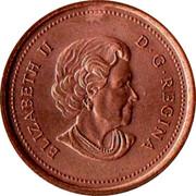 Canada 1 Cent Elizabeth II 4th portrait 2005 KM# 490 1 CENT 2004 K∙G CANADA coin reverse