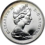 Canada 10 Cents 100th Anniversary of Canada (1967) KM# 67a ELIZABETH II D G REGINA coin obverse