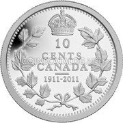 2011 Canada Silver Proof 10 Cents