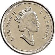 Canada 10 Cents Elizabeth II Confederation (1992) Proof KM# 206 ELIZABETH II D∙G∙REGINA coin obverse
