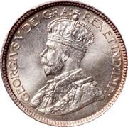 Canada 10 Cents George V 1916 KM# 23 GEORGIVS V DEI GRA: REX ET IND:IMP: coin obverse