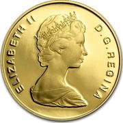 Canada 100 Dollars 400th anniversary of St. John's - Newfoundland (1983) Proof KM# 139 ELIZABETH D.G. REGINA coin obverse