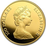 Canada 100 Dollars Patriation of the Canadian Constitution 1982 Proof KM# 137 100 DOLLARS ELIZABETH II coin obverse