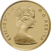 Canada 100 Dollars Peace 1986 Proof KM# 152 ELIZABETH II D ∙ G ∙ REGINA coin obverse