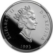 Canada 150 Dollars Arctic fox 1993 Proof KM# 242 ELIZABETH II D∙G∙REGINA 1993 coin obverse