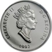 Canada 150 Dollars Cougar 1992 Proof KM# 228 ELIZABETH II D G REGINA 1992 coin obverse