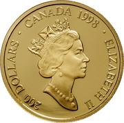 Canada 200 Dollars Legend of the White Buffalo 1998 Proof KM# 317 200 DOLLARS ∙ CANADA 1998 ∙ ELIZABETH II coin obverse