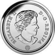 Canada 25 Cents Caribou 2017 Proof Set KM# 493a ELIZABETH II D ∙ G ∙ REGINA coin obverse