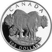 Canada 300 Dollars Bison 1997 Proof KM# 303 CANADA 300 DOLLARS coin reverse