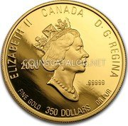 Canada 350 Dollars 2000 Proof KM# 404 Circulation Coins coin obverse
