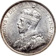Canada 50 Cents George V 1936 KM# 25a GEORGIVS V DEI GRA: REX ET IND:IMP: coin obverse
