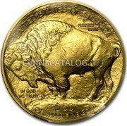USA $50 Fifty Dollars American Buffalo 2014 KM# 393 UNITED STATES OF AMERICA E PLURIBUS UNUM $50 1 OZ. .9999 FINE GOLD IN GOD WE TRUST coin reverse