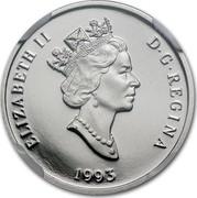 Canada 75 Dollars Arctic fox 1993 Proof; in sets only KM# 241 ELIZABETH II D ∙ G ∙ REGINA 1993 coin obverse