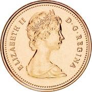 Canada Cent Elizabeth II 2nd portrait 1980 KM# 127 ELIZABETH II D∙G∙REGINA coin obverse