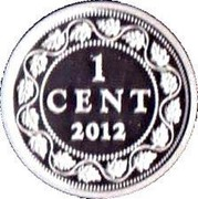 Canada Cent Farewell to the Penny 2012 Proof KM# 1342 1 CENT 2012 coin reverse