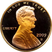USA Cent Lincoln Bicentennial 2009 D Satin Finish KM# 441a IN GOD WE TRUST LIBERTY coin obverse