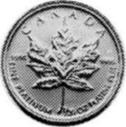 Canada Dollar Maple leaf 1993 KM# 239 CANADA 9995 9995 FINE PLATINUM 1/20 OZ coin reverse
