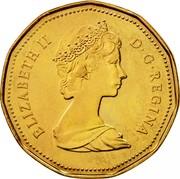 Canada Dollar Proof Loon 1987 Proof KM# 157 ELIZABETH II D ∙ G ∙ REGINA coin obverse