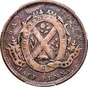 Canada Half Penny Bouquet Sous 1839 Proof KM# Tn15 BANK TOKEN CONCORDIA SALUS BANK OF MONTREAL 1837 HALF PENNY coin reverse