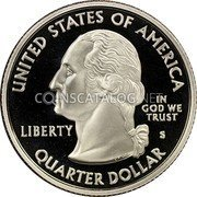 USA Quarter Dollar Alaska 2008 KM# 424 UNITED STATES OF AMERICA QUARTER DOLLAR LIBERTY IN GOD WE TRUST coin obverse