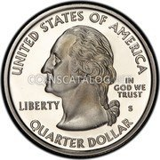USA Quarter Dollar Arkansas 2003 KM# 347a UNITED STATES OF AMERICA QUARTER DOLLAR LIBERTY IN GOD WE TRUST coin obverse