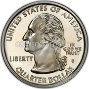 USA Quarter Dollar Mississippi 2002 KM# 335a UNITED STATES OF AMERICA QUARTER DOLLAR LIBERTY IN GOD WE TRUST coin obverse