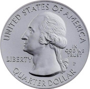 USA Quarter Dollar Olympic National Park - WA 2011 KM# 515 UNITED STATES OF AMERICA IN GOD WE TRUST LIBERTY QUARTER DOLLAR coin obverse